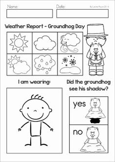 Cute Groundhog Day booklet at themailbox.com and it's FREE