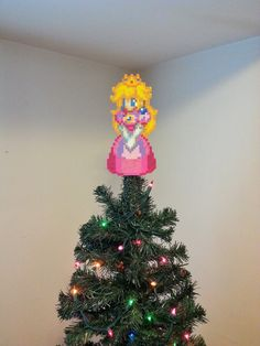 Super Mario Bros. Princess Peach Perler Bead by LighterCases, $30.00