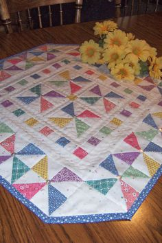 I just adore this Sweet Little Quilt Pattern. Pinwheels Aplenty was Designed by Marie Oman of Tea for Two Designs, simple enough, for even a
