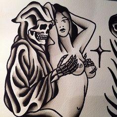 shamusmahannah: Split sheet in progress with @franzstefanik #mtltattoo (at MTL Tattoo)