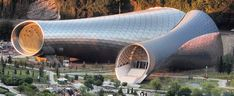 rhike park music theater and exhibition hall in tbilisi by fuksas