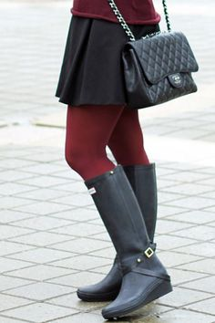 Hunter Boots and Chanel Bag...Love!!