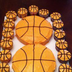 New Basket Ball Birthday Party Cakes Awesome Ideas Basketball Cupcakes, Basketball Birthday, Basketball Stuff, Basketball Party, Easter Cake Pops, Ball Birthday Parties, Birthday Ideas, Cupcake Display, Oreo Truffles