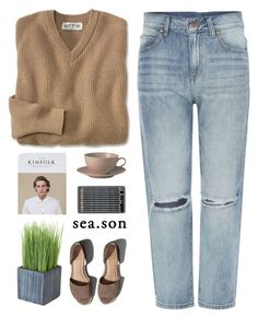 """""""sea.son"""" by misssimplicity ❤ liked on Polyvore featuring Dr. Denim, Abercrombie & Fitch, Royal Doulton and Crate and Barrel"""
