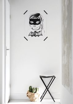 Such a cool print...Batgirl print from BODIE and FOU {Exclusive} — Bodie and Fou - Award-winning inspiring concept store