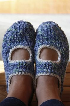 How-To: Knit Mary Jane Slippers #knitting #slippers