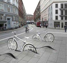 Diseño: Interesante aparcamiento de bicicletas