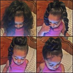 """""""Hey lovelies! A few of you requested a tutorial of my new favorite hairstyle for Ella - The Twisty Bun! So here it is in 4 easy steps. …"""""""