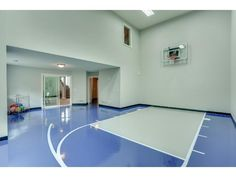Your home could have its own indoor sports court and exercise room, complete with a locker room.