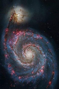 """Hubble Space Telescope Supermassive Black Hole in a """"Small"""" Galaxy, Stuart Rankin Edited Chandra Space Telescope image of the Whirlpool Galaxy Whirlpool Galaxy, Space Photos, Space Images, Outer Space Pictures, Hubble Space Telescope, Space And Astronomy, Carl Sagan Cosmos, Telescope Pictures, To Infinity And Beyond"""
