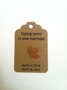 25 Falling in Love Favor Tags / Wedding / Favor / by HerkandRory, $7.00