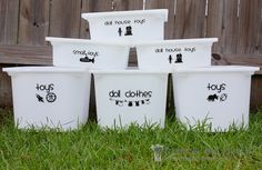 Decorate My Home, Part 22 – Toy Bin Labeling   Make It and Love It