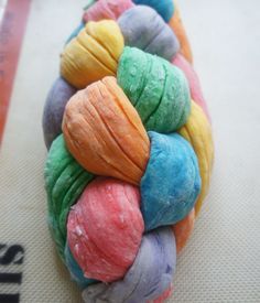 Rainbow Challah   Melba Makes It: Imagine how glorious this would be as Trix or Fruity Pebbles-crusted French Toast!