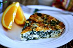 Perfect for a weekend breakfast, Crustless Spinach Quiche is bursting with Mediterranean flavors and two kinds of cheese!