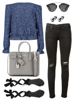 """""""Untitled #1761"""" by kellawear on Polyvore featuring rag & bone, Abercrombie & Fitch, Yves Saint Laurent and Christian Dior"""