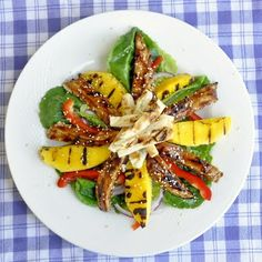 Grilled Mango Chicken Teriyaki Salad - a light, delicious, full flavored summertime meal.