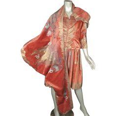 k1920s Dress Fortuny Stencilled Velvet Italy $1800..AN INVESTMENT