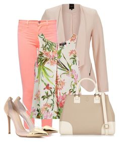 """Bez naslova #56"" by emina-luppo ❤ liked on Polyvore featuring SELECTED, J Brand, Morgan, Tory Burch and Gianvito Rossi"