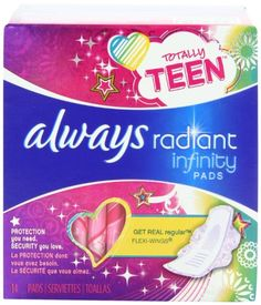 Protection you need. Security you love.  http://darrenblogs.com/us/2018/02/06/always-totally-teen-always-radiant-infinity-pads-14-count/