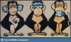 The 3 wise monkeys these days