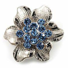 Dahlia Reindeer Gold-Tone Diamante Brooch Pin