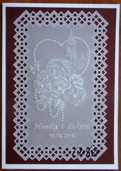 Kartka na uroczystość ślubną. wedding day cards  Parchment craft
