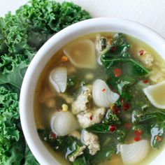 Turkey Vegetable Soup with Brown Rice Noodles. Hearty, comforting & gluten free!