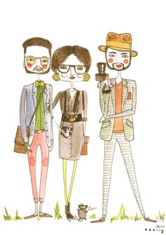 Hipster illustration  Fashion bloggers by diarysketches on Etsy, $11.00  I found this be hilarious!!! gotta love the hipsters!!! lol