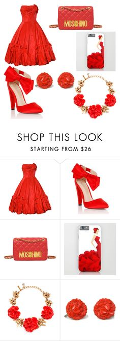 """""""Candice Party Outfit"""" by otakualexis ❤ liked on Polyvore featuring Lipsy, Moschino and Oscar de la Renta"""