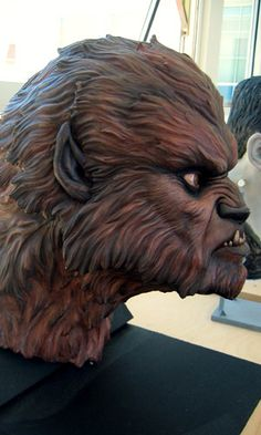 The Wolfman by ILM artist Iain McCaig and sculptor Mike Murnane, painted by artist Chrystene Ells (for cancelled CGI Frankenstein movie)