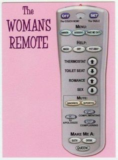Womans remote