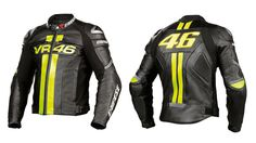 Dainese VR46 Leather Jacket (DJ-001). Available Now at €220 Sizes Available Delivery time: 10-12 working Days. PayPal Accepted. Free Delivery Worldwide Delivering Safety Worldwide.. Email: motorgarments@gmail.com https://www.facebook.com/motorgarments/