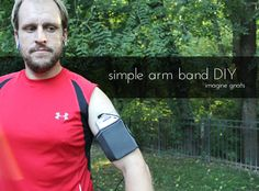 simple arm band DIY for exercising with phone or mp3 player