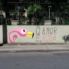 O Amor é. Rosa. - Tijuca, Rio de Janeiro. flamingo | flamenco
