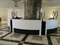 The thermoforming capabilities of Corian® are on full display in the San Antonio Hotel project. This Corian® project was designed by Martin Xuereb & Associates, fabricated by Shaker, in collaboration with Eurocraft ( Attard Bros Group) and Jacap.