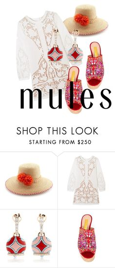 """""""SMELL THE OCEAN AIR"""" by pursue-happiness ❤ liked on Polyvore featuring Lola, Maje, Chantecler, Rupert Sanderson and mules"""