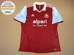 4ca2c1b26 WEST-HAM-UNITED-HOME-2013-2014-Football-Shirt-Jersey-Soccer-Maglia-Camisa -Trikot