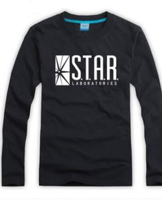 The flash s.t.a.r. labs long sleeve shirts for men