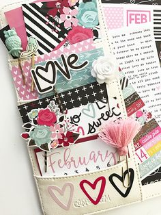 February Carpe Diem planner set up from marketing director Layle Koncar using our Love & Adore collection