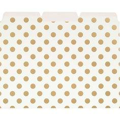 kate spade new york Gold Dots File Folders