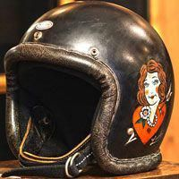 Incredible choices to find out more about Retro Motorcycle Helmets, Motorcycle Shop, Scrambler Motorcycle, Riding Helmets, Custom Helmets, Old Motorcycles, Pinstriping, Old Things, The Incredibles
