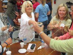 , My Favorite Ice Breaker for Women's Groups , IBC princess retreat 2010 Ice Breakers For Women, Group Ice Breakers, Relief Society Activities, Group Activities, Group Games, Leadership Activities, Church Activities, School Leadership, Senior Activities