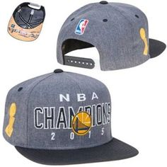 Men s Golden State Warriors adidas Gray Black 2015 NBA Finals Champions  Locker Room Snapback Hat 0dd637b47e2