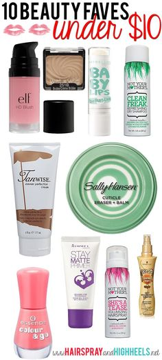 10 Beauty Faves Under $10