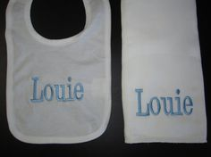 Personalized bib and burp cloth gift set by theinitialgift on etsy baby bib and burp cloth gift set personalized monogrammed personalized baby gifts monogrammed bibs burp bloths baby boy monogram negle Images