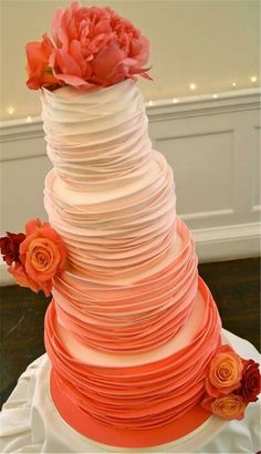 Orange Wedding Cake Ideasand Inspirations