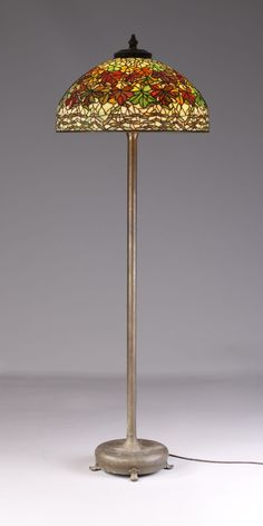 Tiffany studios yellow rose floor lamp louis comfort tiffany tiffany studios maple leaf floor lamp price realized 103500 mozeypictures Images