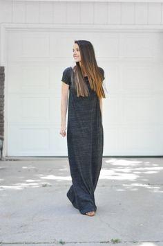 Очень простая выкройка платья - футболки (Diy) / Простые выкройки /