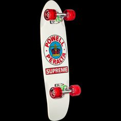 Powell Peralta Sidewalk Surfer Supreme White Cruiser Complete Skateboard - x WB George Powell, Stacy Peralta, Skateboard Companies, Skateboard Deck Art, Complete Skateboards, Supreme, Photo Galleries, Sidewalk, Retro