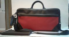 Vintage HARTMANN Carry On Travel Luggage Overnight Bag Leather Red Canvas | eBay
